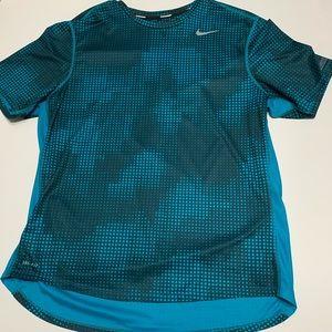 Men's blue nike running T-shirt